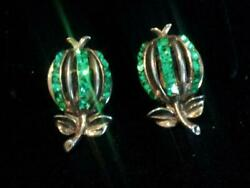 VTG~ COLLECTOR'S SIGNED CROWN TRIFARI PAT PEND~ KINGS JEWELS~ CLIP BACK EARRINGS