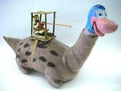 Marx Flintstone / Dino Electric Tin Toy Vintage 1960's Made In Japan From Japan