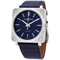 Bell And Ross Aviation Automatic Blue Dial Men's Watch Brs92-blu-st/scr