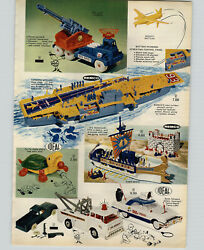 1964 Paper Ad 2 Pg Marx Big Shot Cannon Toy Remco Nuclear Air Craft Carrier