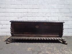 Antique Trunk Vintage Storage Gothic Rustic Steamer Coffee Table Hope Chest