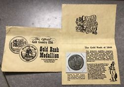 Copper Nickel Nevada City Mint Gold Rush Medallion With A Gold Flake And Info