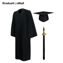 GraduationMall Matte Graduation Cap and Gown 2019 for High School