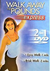 WALK AWAY THE POUNDS EXPRESS 2 in1 EASY WALK 1 MILE~BRISK WALK 2 MILES *NEW DVD*
