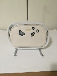 NWT COACH CROSSBODY POUCH WITH SOUVENIR EMBROIDERY F25946 Chalk $75.99
