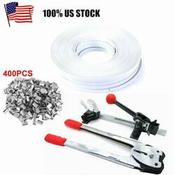 Complete Strapping Tool Kit W/ 400 Seals+ 4 Banding Roll 5/8 Poly Strap 656 Ft