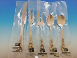 Rose Point By Wallace Sterling Silver Flatware Set For 8 Service 42 Pieces New