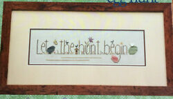 Heart In Hand Cross Stitch Pattern Only Egg Hunt Easter