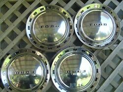 1952 52 Ford Crestline Victoria Custom Line Sunliner Coupe Hubcaps Wheel Covers