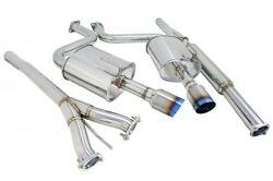 Megan Racing Cat Back Exhaust Oe-rs For 09-14 Nissan Maxima Blue Ti Burnt Tips