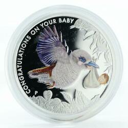 Australia 50 Cent Congratulations On Your Baby Colored Silver Coin 2014