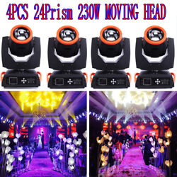 230w 16ch 7r 16prism Beam Head Moving Stage Light Gobos Lamp Stage Effect 4pcs
