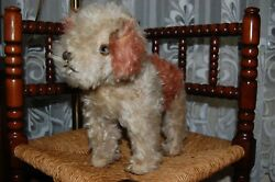 Old Antique Hermann Germany Mohair Fox Terrier Dog with Bark