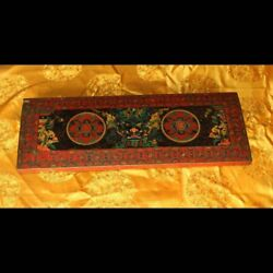 Rare Old Antique Tibet Buddhist Painted Thangka ZbazarMandala Wood Sutra Cover