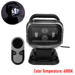 Led Search Light 60w Remote Control Waterproof Searchlight For Boat Outdoor Car