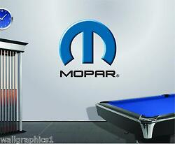 MOPAR Logo Removable Wall Decal Graphic Man Cave Decor Garage Cling Shop Tools