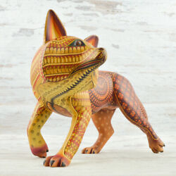 Coyote 103 Alebrije Masterpiece Oaxacan Wood Carving A1891 | Magia Mexica