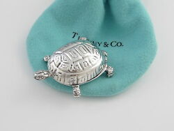 And Co Rare Vintage Turtle Pill Box Case Holder