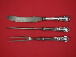 La Rochelle By International Sterling Silver Steak Carving Set 3pc