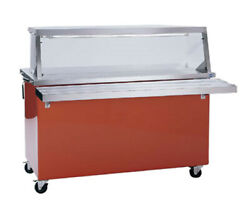 Delfield Kc-50 50 Shelleyglas Solid Top Serving Counter With Casters
