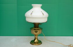 Vintage Aladdin Electric Brass Table Lamp W 10 Opal Glass Shade