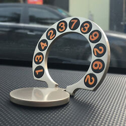 Car Dial Parking Plate Phone Number Temporary Sign Card Cell Vehicle Holder Auto