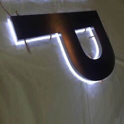 Custom 6'' Metal Logos Channel Signs Outdoor Banners Lighted Signages Vintage