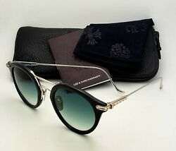 New Chrome Hearts Sunglasses Evagasablelistic Black And 925 Sterling Silver Frames