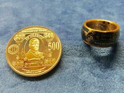 Handmade Copper Coin Ring Made From 1 Ounce 500 Us Treasury Note Token
