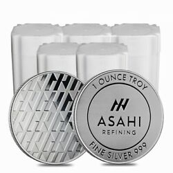 Lot Of 100 - 1 Oz Asahi Silver Round .999 Fine Lot 5 Tubes Of 20