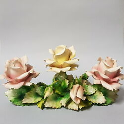 Capodimonte Porcelain Flowers Centerpieces Large Collectibles Italy Gift Vintage