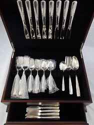 Camellia By Gorham Sterling Silver Flatware Set Service 43 Pieces Dinner Size