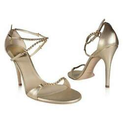 Christian Dior Shoes Sandals Gold W Crystals (CDW72)