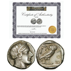 Attica / Athens Ar-tetradrachm C. 454-404 Bc Old Style Extremely Fine