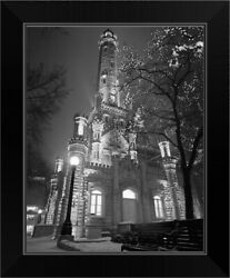 Water Tower Chicago Il Black Framed Wall Art Print, Chicago Home Decor