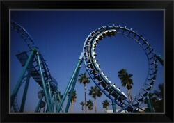 Roller Coaster At Knottand039s Berry Farm Black Framed Wall Art Print Los Angeles