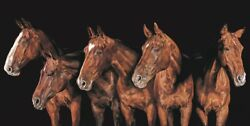 Debbie Boon Picture Stand Out From The Crowd Horses Wildlife Limited Edition