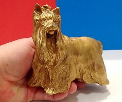 Yorkshire Terrier bronze figurine dog bronze from Russia collectible figure
