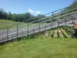 18 ROW l-BEAM FRAME ALUMINUM BLEACHERS 125 FEET LONG 1340 SEATS BEST DEALS TEXAS