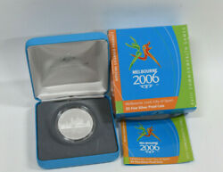 Melbourne 2006 City Of Sport 5 Fine Silver Proof Coin