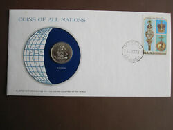 Bahamas 1978 Coins Of All Nations Cover With 50c Coin + Stamp