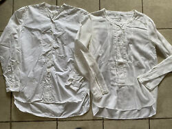 Pomandere Italian Cotton Top Blouse Button Up Tunic Shirt Sz 44 M Designer Lot