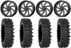 Msa Milled Switch 20 Wheels 34 Xm310r Tires Can-am Renegade Outlander