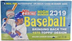 2019 Topps Heritage High Number Baseball Hobby Box From A Sealed Case