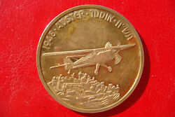 Israel 1948 Auster His Wings Shall Fill The Breadth Of Thy Land Airplane Medal