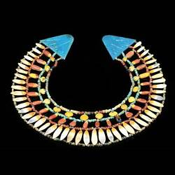 * An Egyptian Floral Broad collar Necklace Amarna Period ca. 1352-1336 BCE