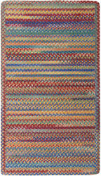 Capel Rugs Kill Devil Hill Wool Country Braided Rectangle Rug Primary Multi 950