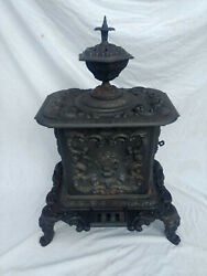 1849 Low And Hicks Clark Keeney 3 Antique Stove Waverly Troy Ny Cast Iron