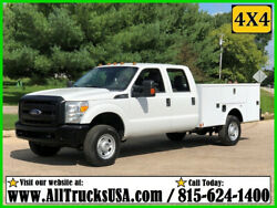 2015 Ford F350 4X4 6.2 GAS 9' AUTO TRUCK BED SERVICE TRUCK Used Crew Cab