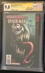 Ultimate Spider-man 33 Cgc 9.8 2x Signed Stan Lee And Todd Mcfarlane Venom